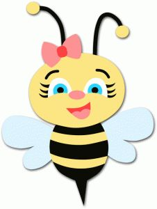 clipart royalty free Bee clip art library. Bumble clipart girly