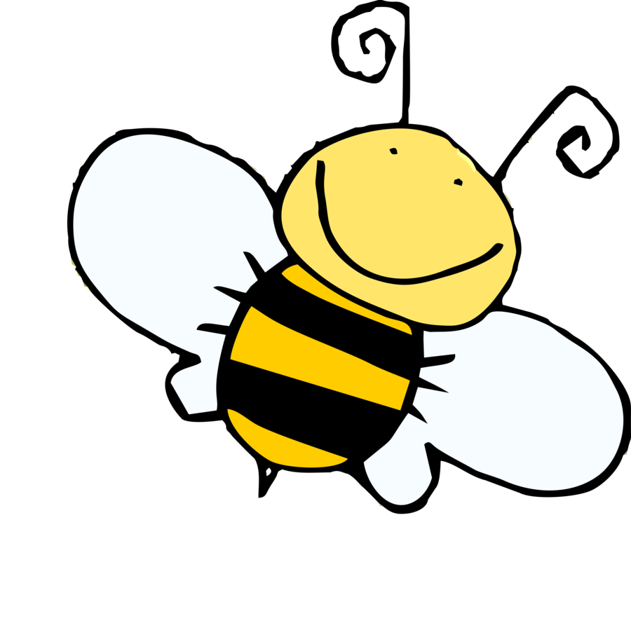 graphic black and white Bee drawing cartoon at. Bumble clipart sketch