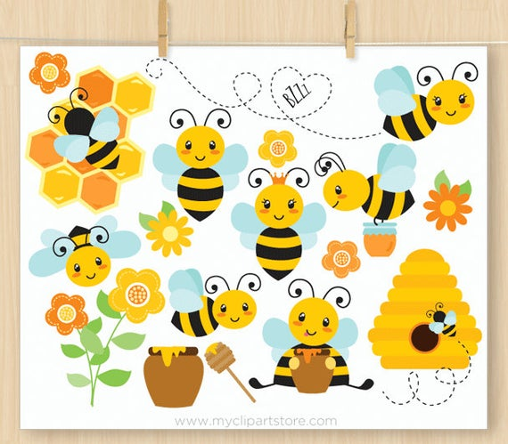 banner library Bumble clipart spring. Buzzy bees cute bee