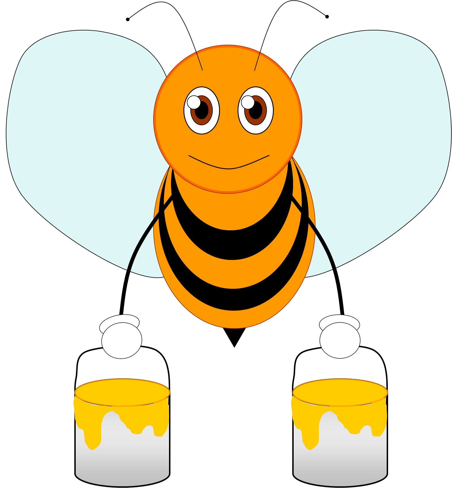 picture freeuse library Bumble clipart spring. Cartoon bee free clip
