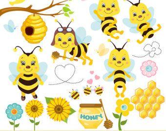 image transparent download Bees honey clip art. Bumble clipart spring.