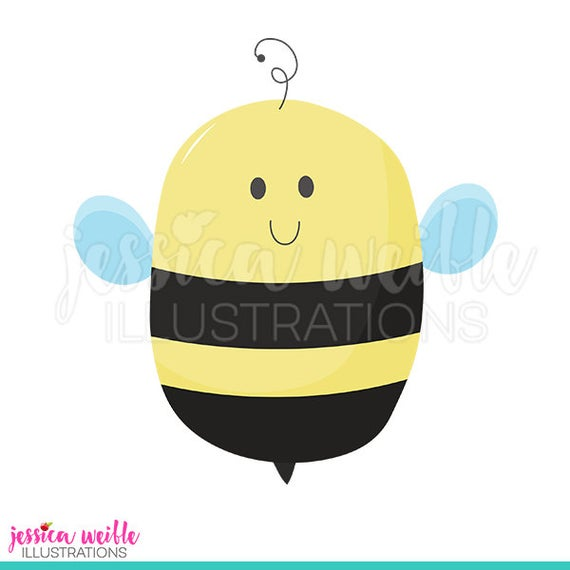 clip art freeuse Honey cute digital clip. Bumble clipart yellow bee