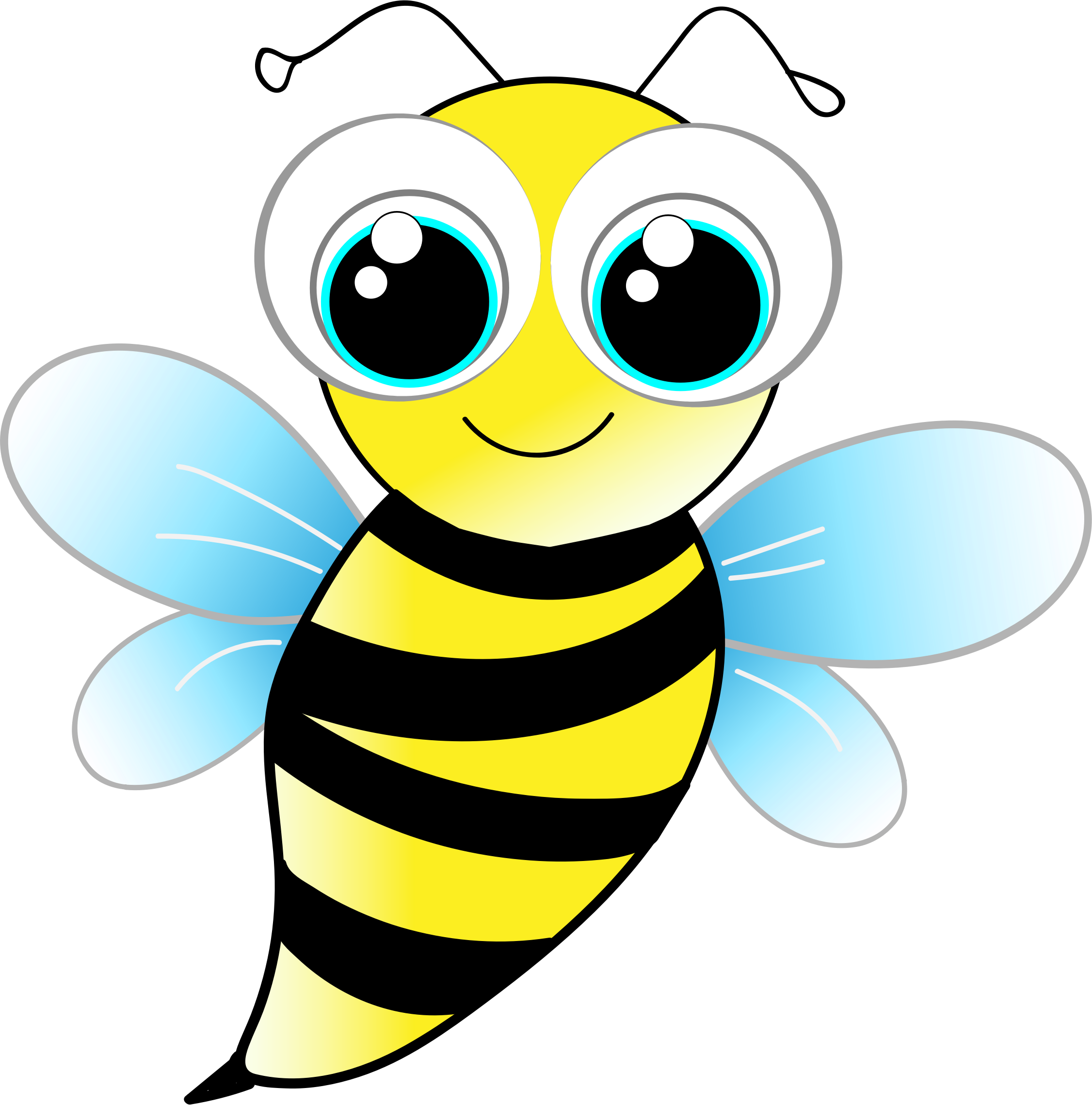 svg freeuse download Friendly bee free on. Bumblebee clipart.