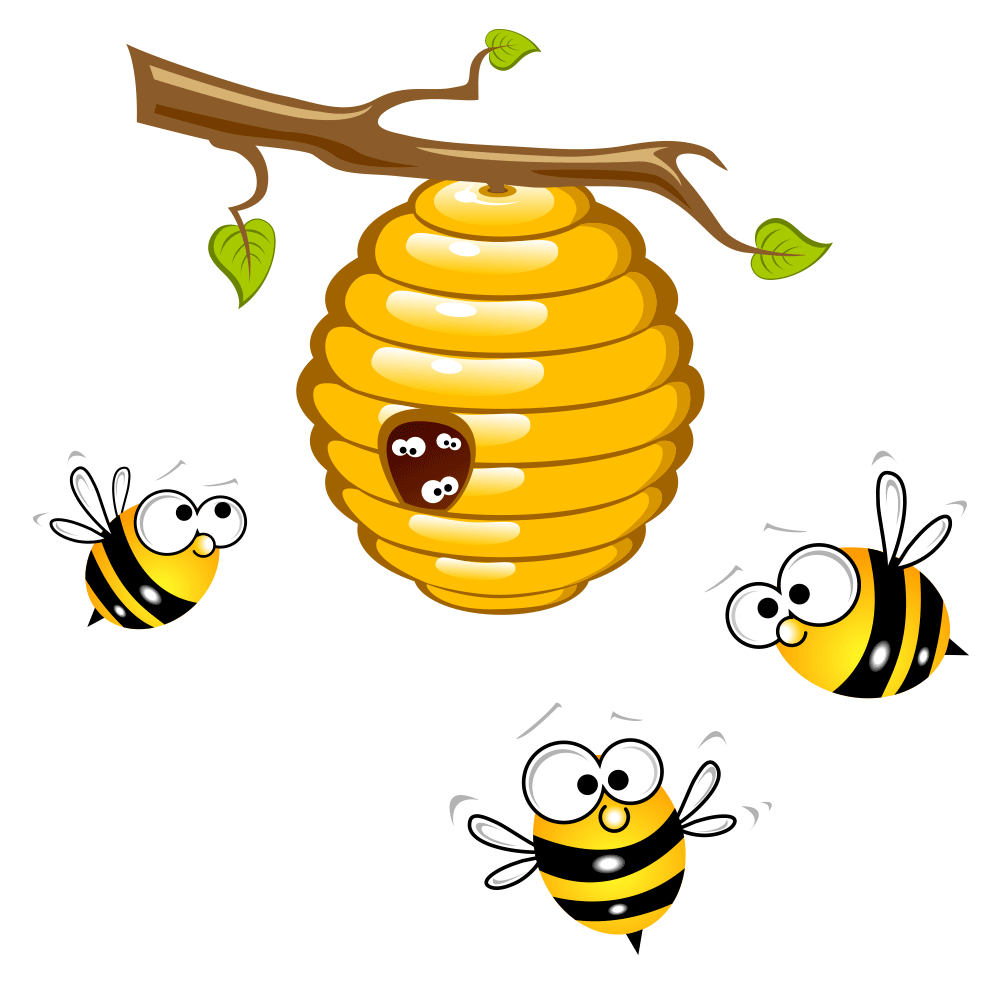 graphic freeuse library Beehive clip art transprent. Bumblebee clipart honey bee