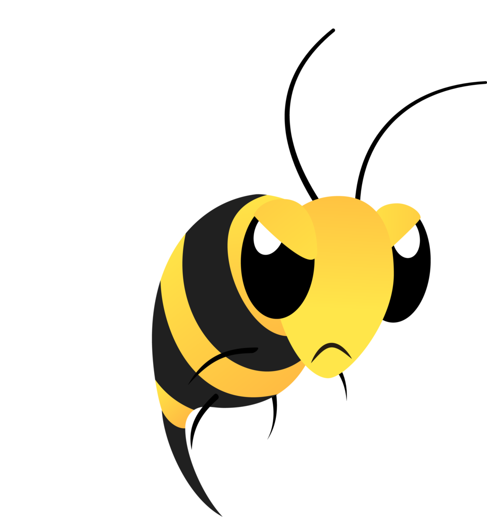 graphic royalty free download Bumblebee clipart mean to bee.  ai available angry