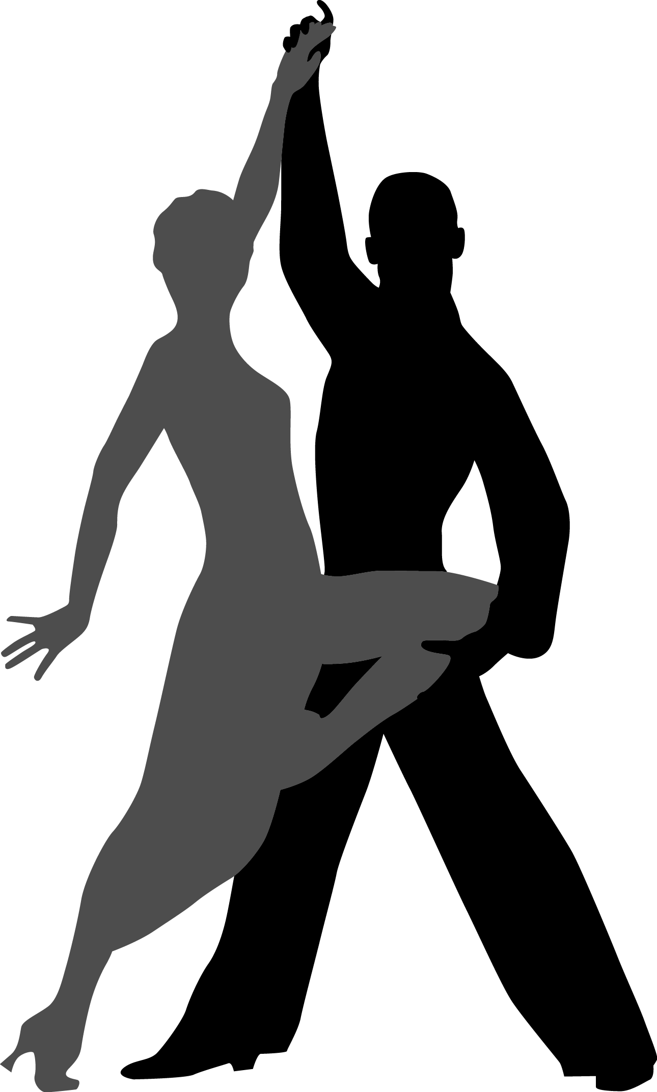 banner royalty free library Dancing transprent png free. Drawing silhouette dance