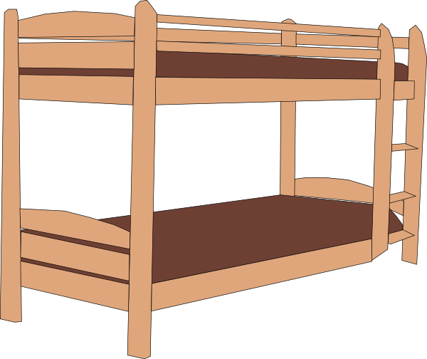 picture royalty free stock Bunk Bed Clip Art at Clker