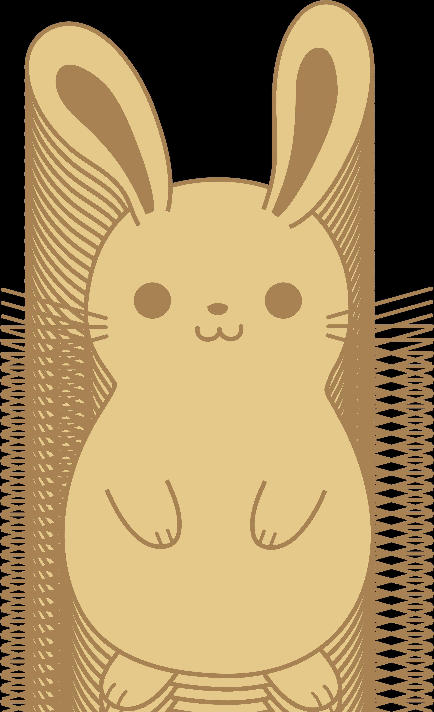 clip art royalty free library Cute rabbit drawing at. Bunnies clipart kawaii