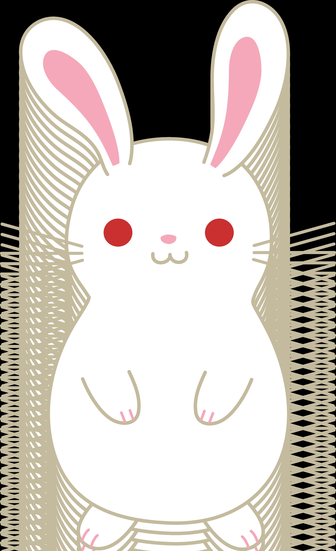 jpg transparent download Bunnies clipart kawaii. Cute white albino bunny