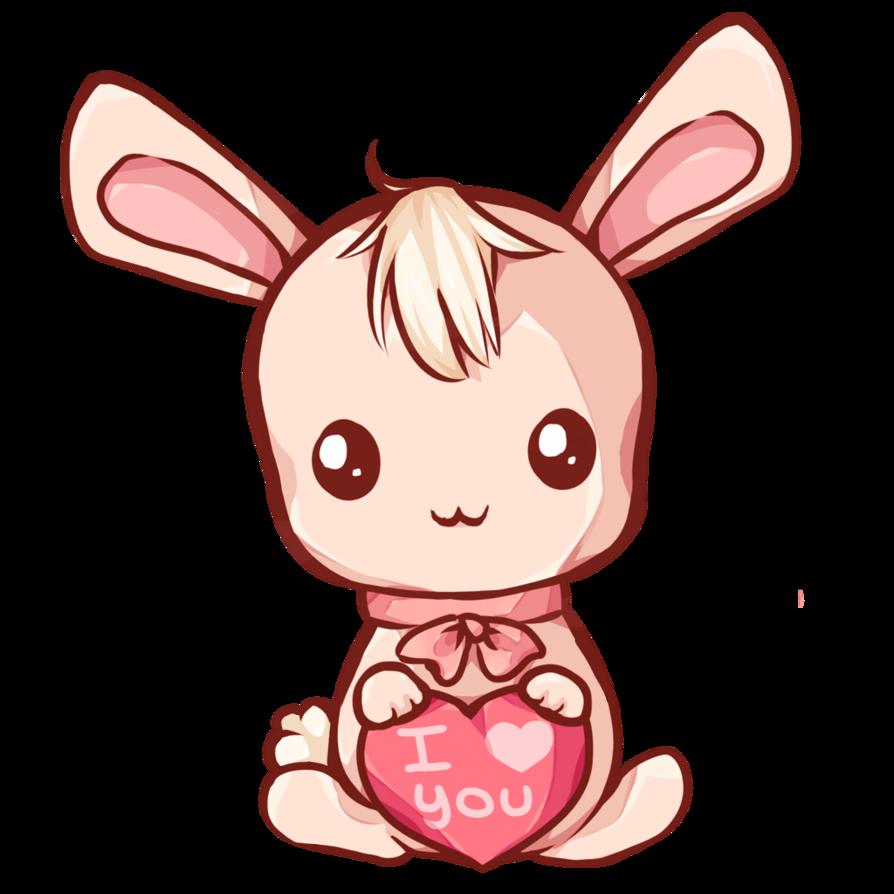 jpg transparent Bunny by dessineka deviantart. Bunnies clipart kawaii