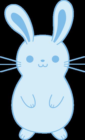 freeuse stock Bunnies clipart kawaii. Cute blue easter bunny