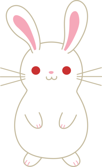 picture black and white download Bunny . Bunnies clipart kawaii