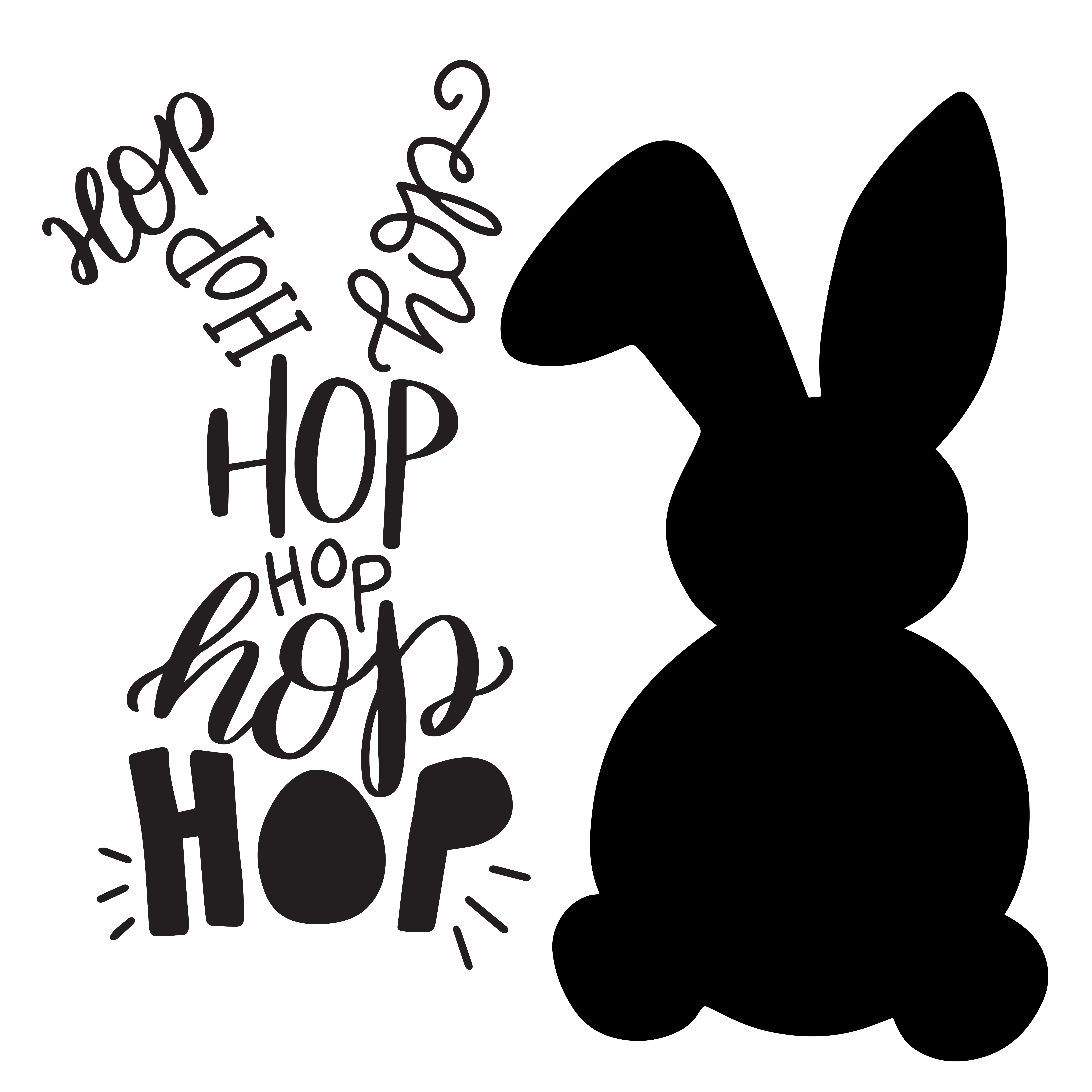 vector transparent library Easter Bunny Silhouette Printable at GetDrawings