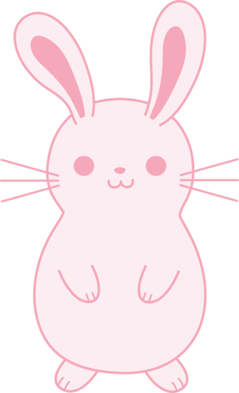 jpg royalty free Cute pink easter bunny. Bunnies clipart pastel