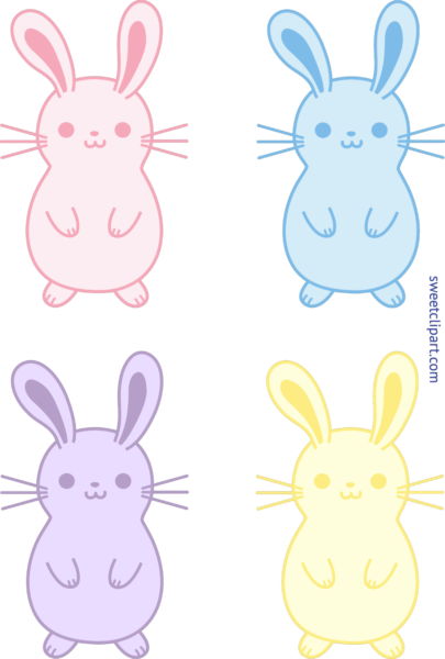 image library stock Bunnies clipart pastel. Archives sweet clip art