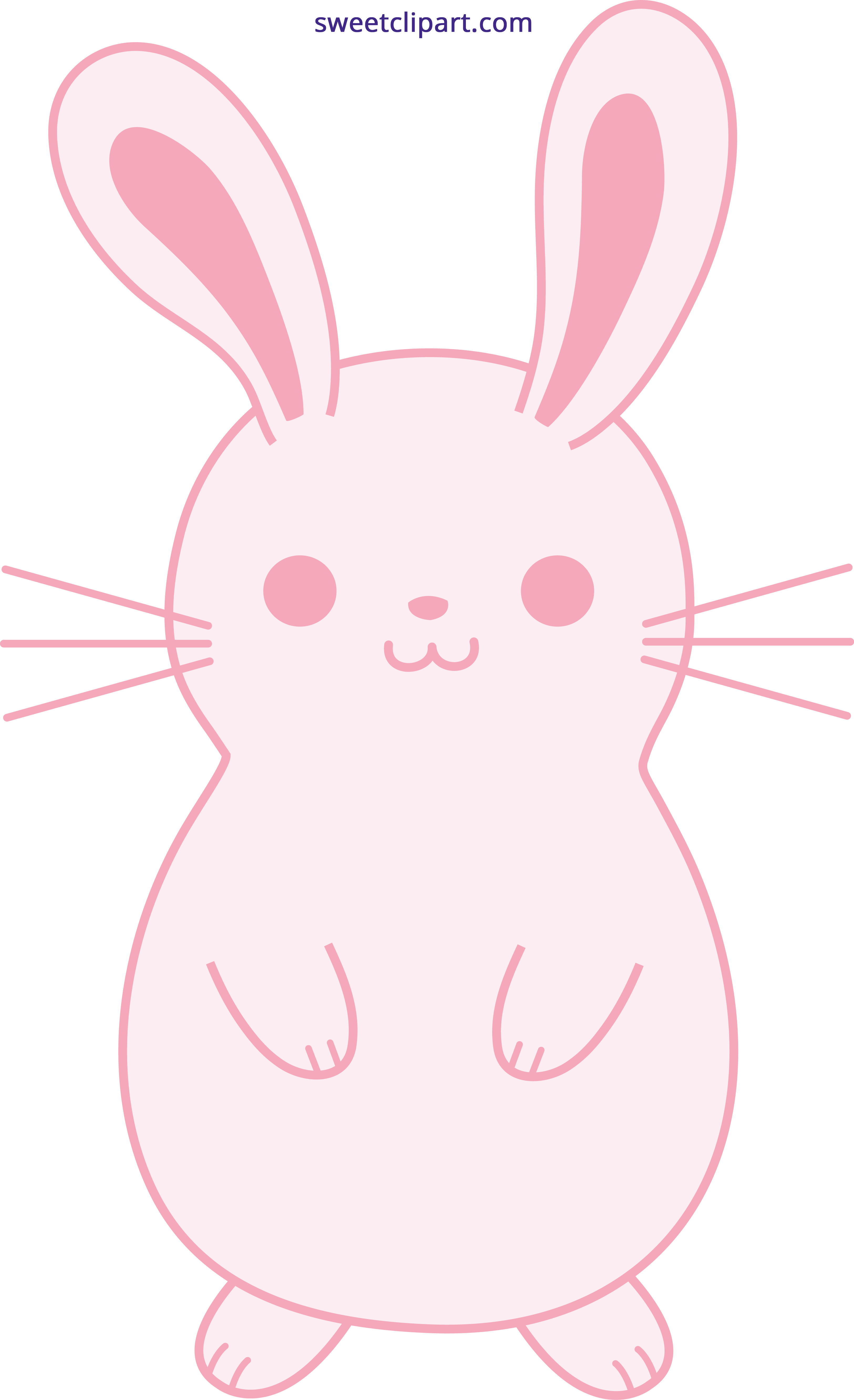 clipart library library Cute pink easter bunny. Bunnies clipart pastel