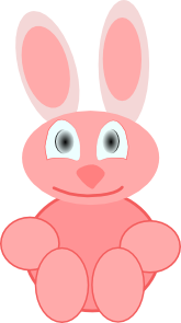 clip art transparent stock Cute rabbit clip art. Bunnies clipart toy