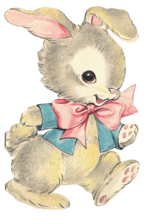 jpg black and white Vintage easter bunny nanalulu. Bunnies clipart toy