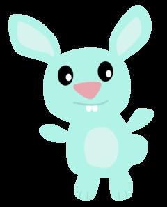 clip Blue bunny clip art. Bunnies clipart toy