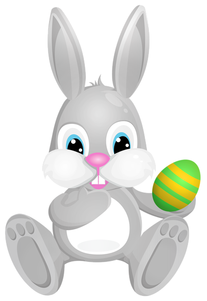 svg free download Easter grey bunny png. Bunnies clipart toy