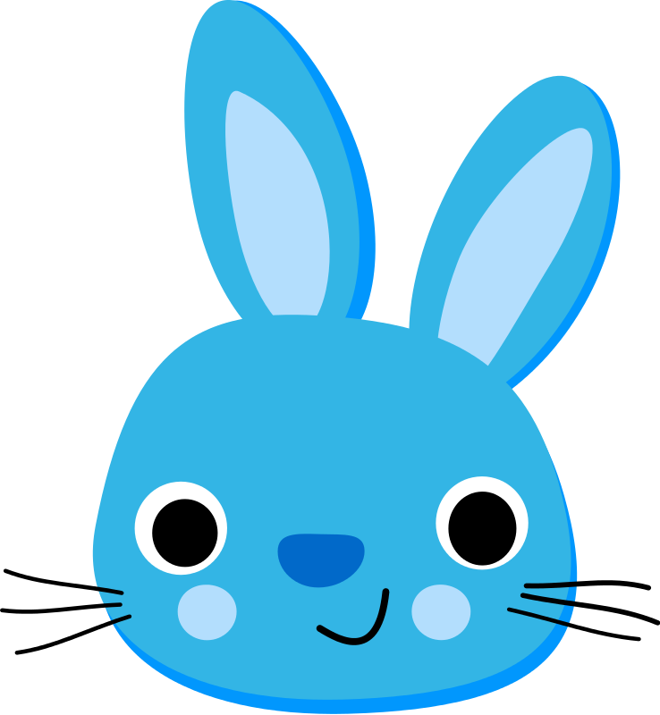 graphic royalty free Bunny clipart. Face free