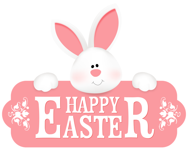 clip library stock Happy Easter with Bunny PNG Clipart Image