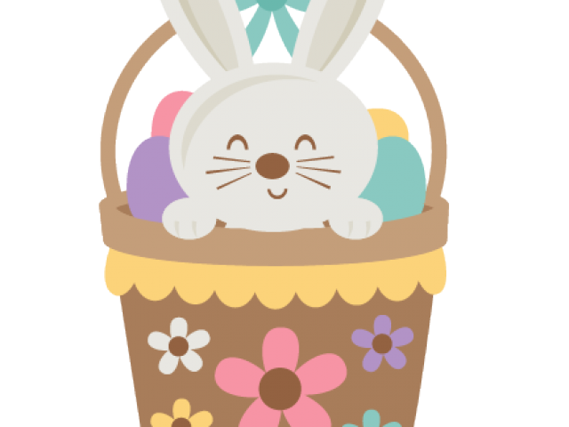 png black and white library Easter free on dumielauxepices. Bunny clipart basket.