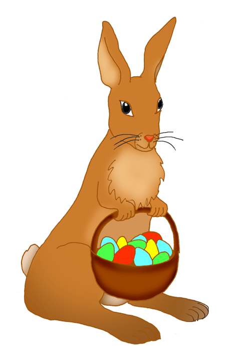 png library Funny easter with daffodils. Bunny clipart basket.