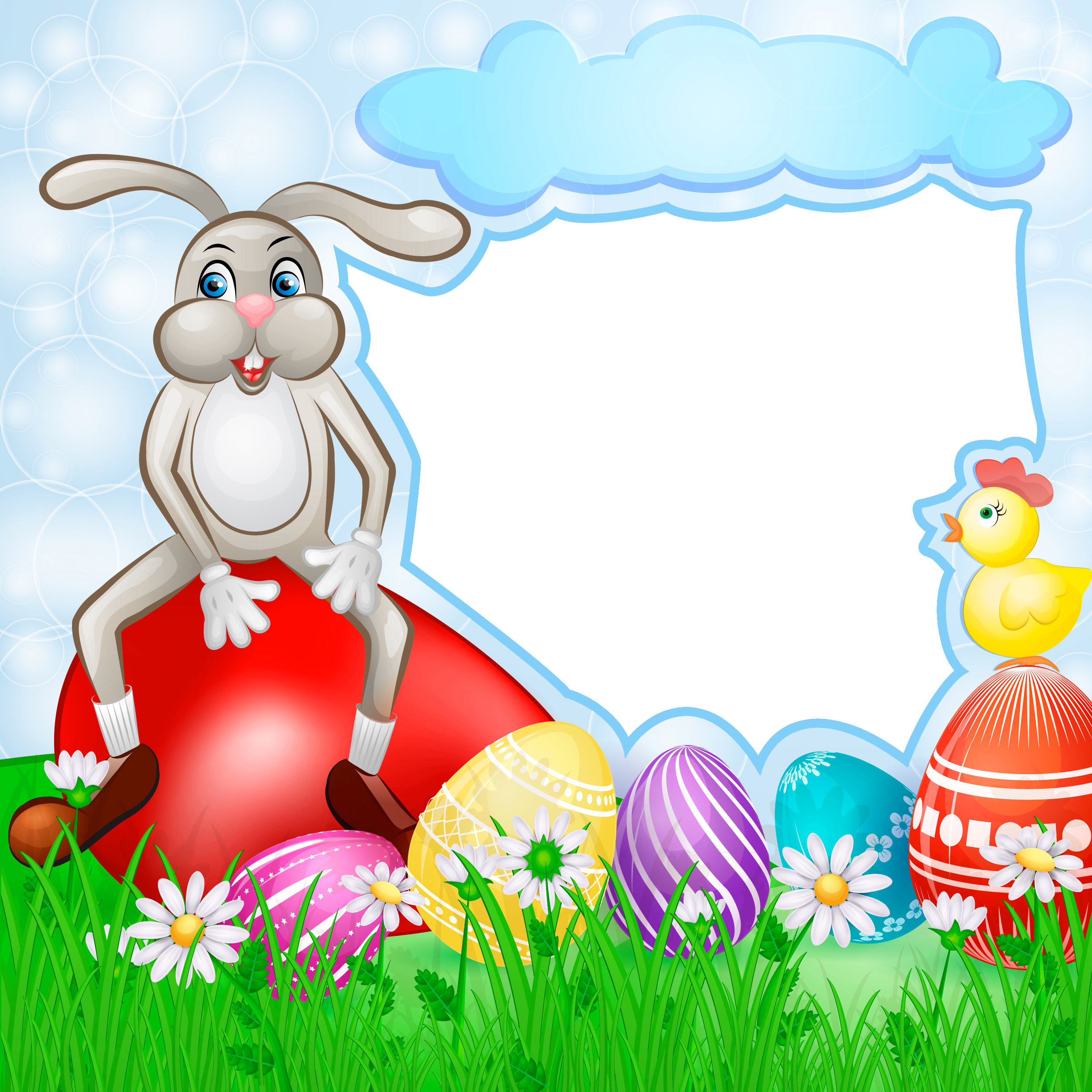 png transparent stock Bunny clipart frame. Transparent easter with gallery.