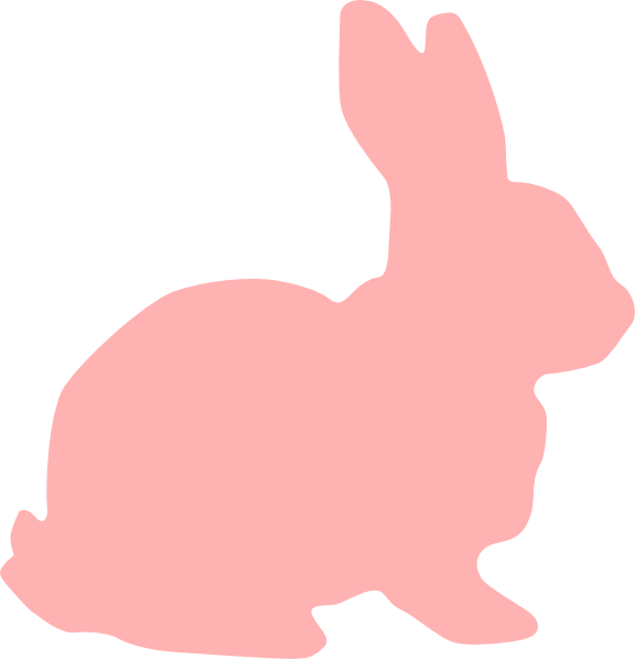 clip freeuse download Pink clip art at. Bunny clipart silhouette