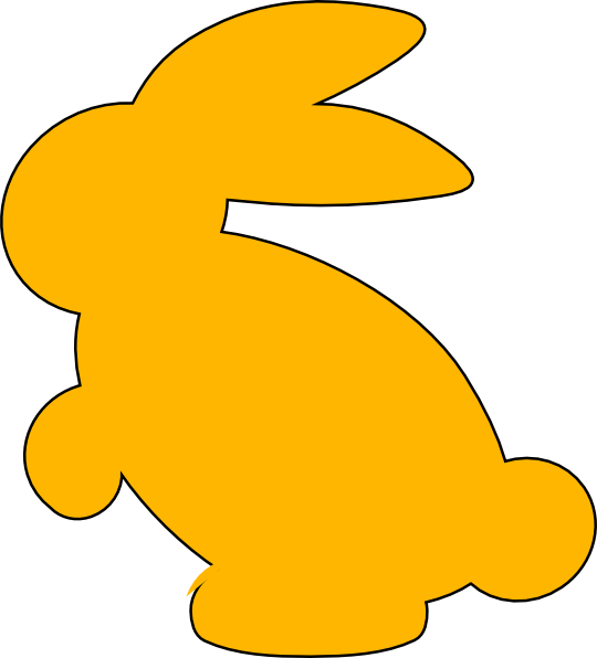 image stock Yellow clip art at. Bunny clipart silhouette