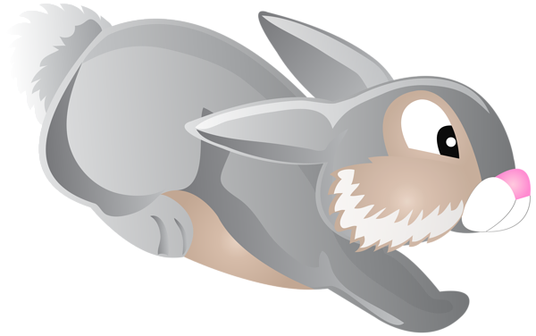 svg black and white download Bunny clipart transparent background. Jumping cartoon clip art.