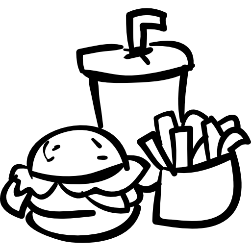 image free Chips drawing transparent. Burger and fries at