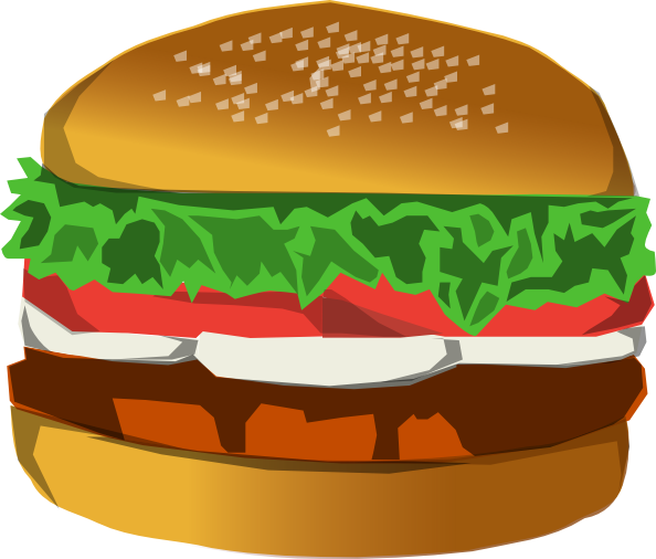 svg library download Burger Clip Art at Clker