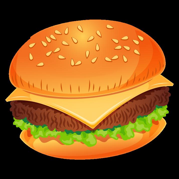 vector transparent Png image free download. Burger clipart.