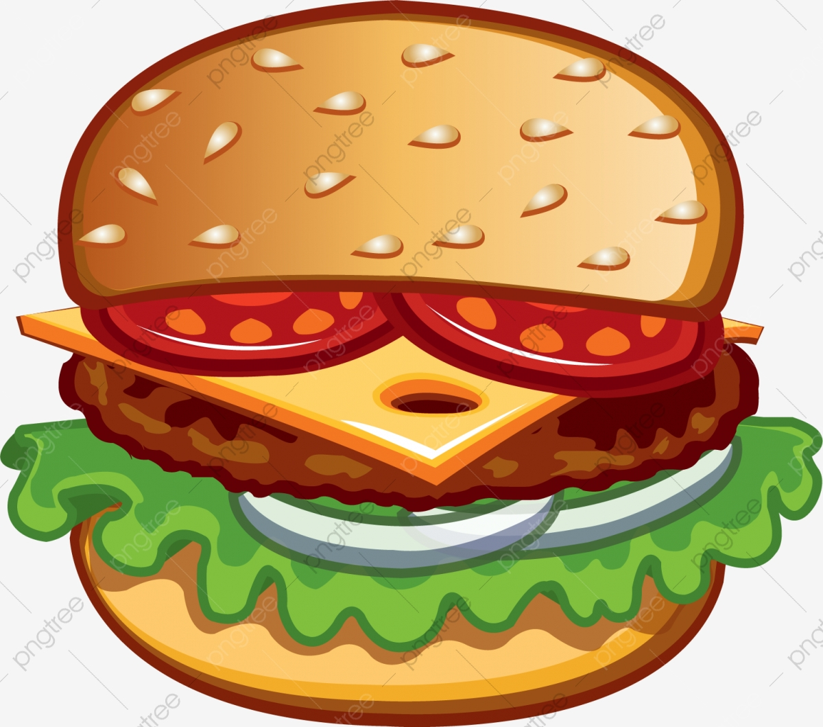jpg freeuse library Burger clipart. Layered hamburger western png