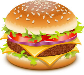 jpg Burger clipart. Hamburger png image mac.