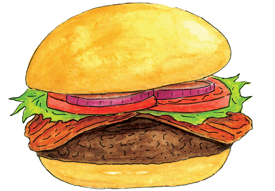 picture download Fresh cut beef chicken. Burger clipart bacon cheeseburger.