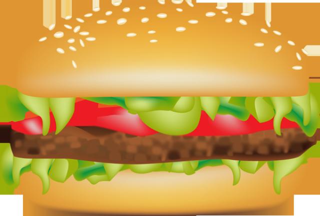 clip black and white library Hamburger abundance free on. Burger clipart bacon cheeseburger.