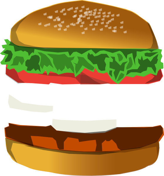 image freeuse stock Hamburger Clipart burger bun