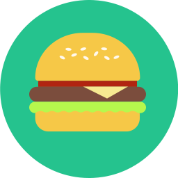 graphic library Vector burger icon. Build a pub fresh