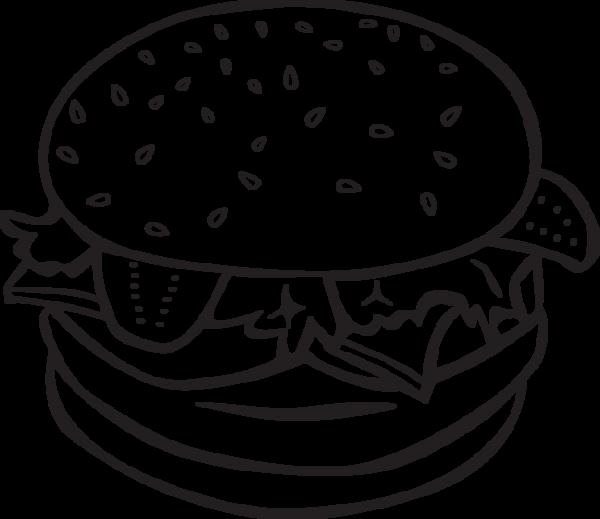 jpg Vector burger line art.  ra and bun
