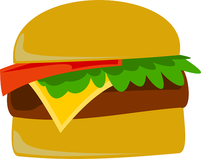 jpg freeuse download Vector burger simple. Hamburgers clipart bbq free