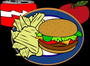 svg free stock Burger clipart burger chip. Fast food clip art.
