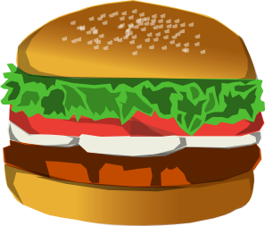 clipart black and white Clip art at clker. Burger clipart burger chip.