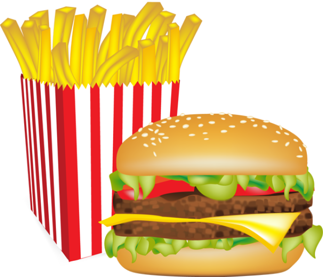 picture royalty free library Graphic design chips hamburgers. Burger clipart burger chip.