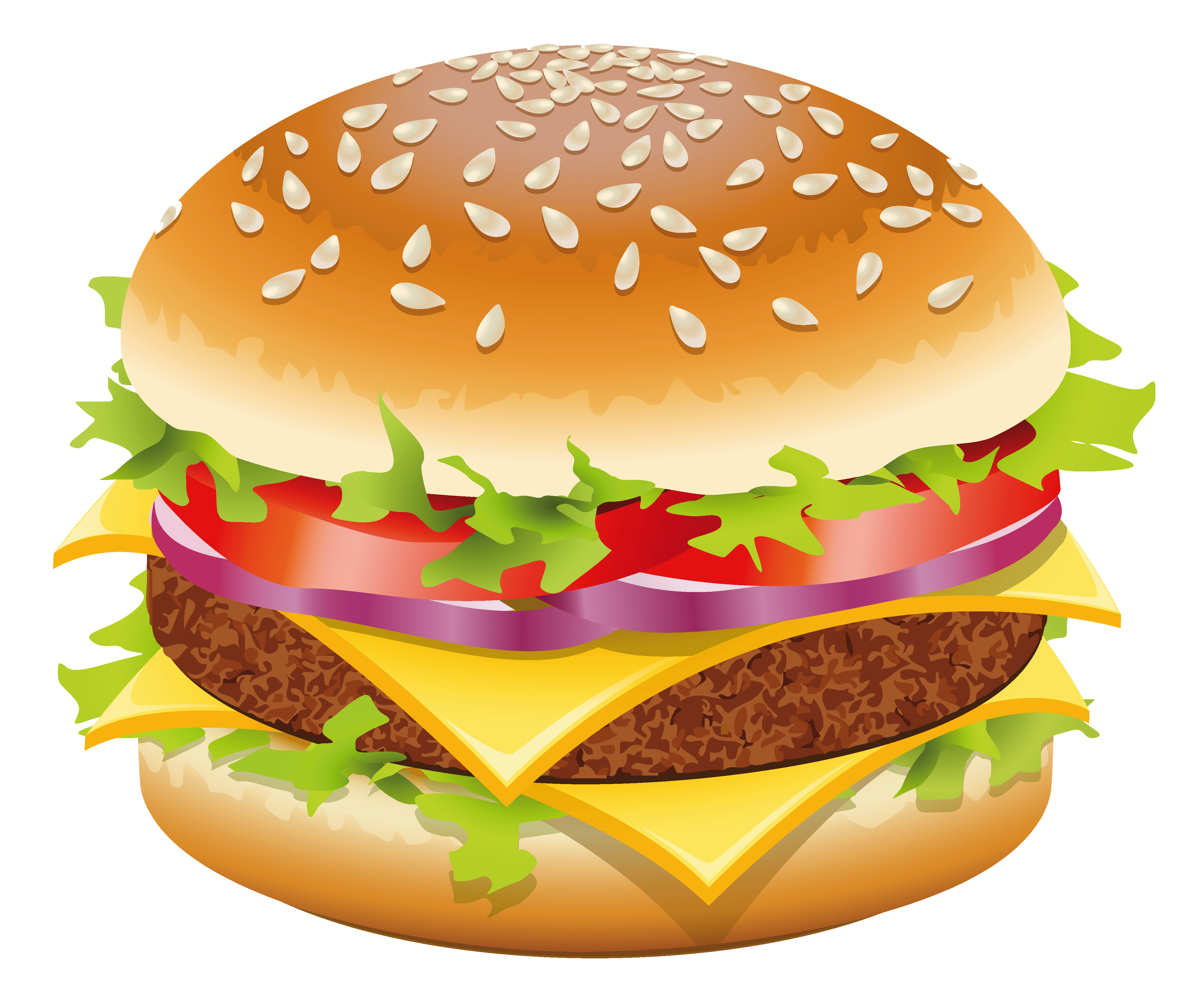 image transparent library Burger clipart clear background