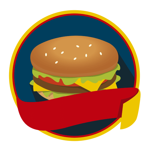 image black and white Logo burger fast food