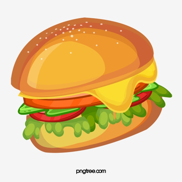 clipart Png images and psd. Vector burger buger