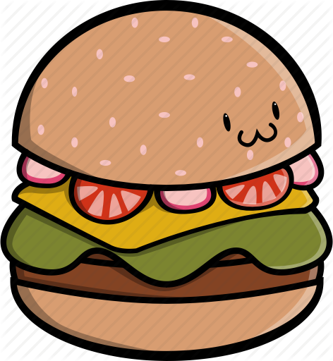 png black and white download Burger patty clipart. Cute food by marlon